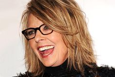 Diane Keaton's choppy layers are just the right length to frame her face. Her style is basically a layered bob. The layers add texture and draw the eye toward her best features. As you blow-dry, turn the ends out. Use a hairspray made for textured cuts to separate and hold the chunky pieces