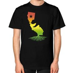 California Roots (Rasta surfer colors) Unisex T-Shirt (on man)