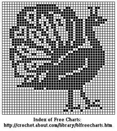 Peacocks Chart for Cross-Stitch