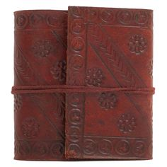 Amazon.com : INDIARY Mini Pocket Notebook Leather Journal Made From Buffalo Leather And Handmade Paper 3x3 Inch - Goober Pea : Hardcover Executive Notebooks : Office Products