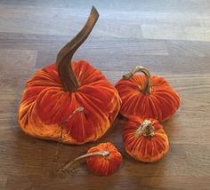 Made for Halloween using left over Beckford Silk  velvet in pumpkin