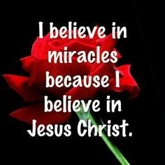 I believe in miracles becsuse I believe in Jesus Christ. Lord And Savior, God Jesus, Jesus Help, The Words, Religious Quotes, Spiritual Quotes, Bible Scriptures, Bible Quotes, Bible Prayers