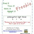 "This freebie is a sample of ""Read It, Trace It, Write It, Highlight It:  Kindergarten Sight Words Part 1"".    This freebie includes sight words: a,..."
