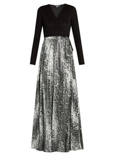 Diane von furstenberg aviva gown womens black white and metallic-silver clothing dresses,diane Jersey Maxi Skirts, White Maxi Skirts, Women's Fashion Dresses, Dress Outfits, Casual Dresses, Pencil Skirt Casual, White Evening Gowns, Office Fashion Women, Designer Gowns
