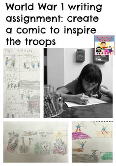 This World War 1 writing assignment will get your reluctant writers excited to try this project as they design their own comics. World History Lessons, History For Kids, Teaching History, Us History, American History, History Activities, History Timeline, Student Teaching, British History