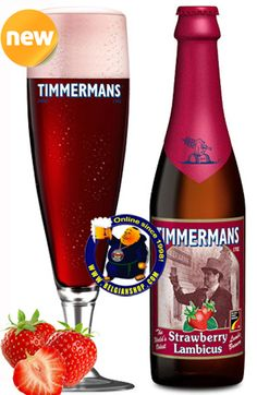Our New Beer: Timmermans Strawberry Lambicus  Its aroma evokes the perfumes of a lovely summer's day. Its strawberry flavour confirms the nose's impression, without being over-sweet, and is enhanced by a real feeling of freshness, recalling those tiny green granules that are found around ripened strawberries. Its taste is consistent ...  Available at: http://store.belgianshop.com/geuze-lambic-fruits/1401-timmermans-strawberry-lambicus-4-375cl.html