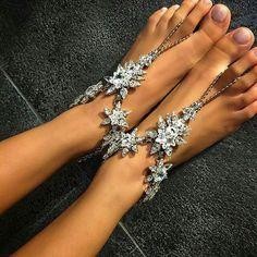 Beach wedding Stylish Jewelry, Fashion Jewelry, Jewelry Sets, Beach Foot Jewelry, Leg Chain, Beach Anklets, Beach Sandals, Handmade Wire Jewelry, Anklet Bracelet