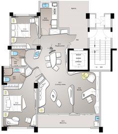 Design By Anil Plan Hotel Floor Plan, House Floor Plans, Plan Design, Layout Design, The Plan, How To Plan, Restaurant Plan, Apartment Floor Plans, Unit Plan