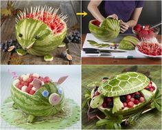 Recetas creativas: melones y sandías con forma de animales |