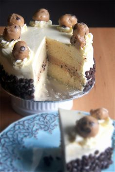 Crumbs and Cookies.: chocolate chip cookie dough cake.