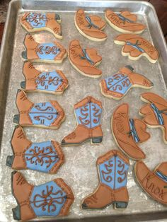 Cowboy boots and hat cookies