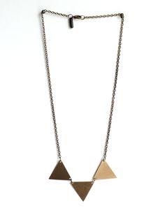Delta Delta Delta necklace. Including three deltas!!