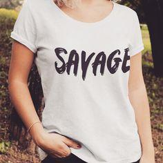 Savage Girl, V Neck, T Shirts For Women, Instagram Posts, Tops, Fashion, T Shirts, Moda, Fashion Styles