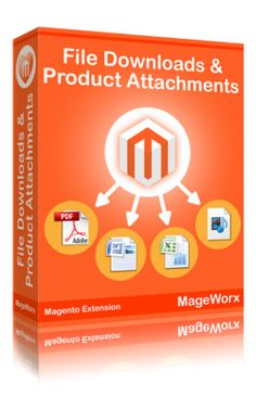 File Downloads & Product Attachments #Magento extension allows sharing files, manuals, media content, utilities, drivers and other downloads from within Product pages, CMS pages and Static blocks.  $99  http://www.mageworx.com/file-downloads-and-product-attachments-magento-extension.html