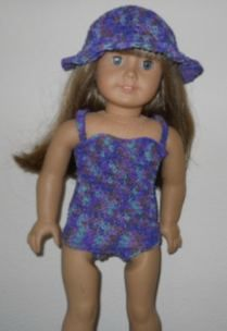 Free doll clothes patterns to crochet One Piece Bathing Suit for an American Girl Doll