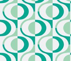 loop teal fabric by myracle on Spoonflower - custom fabric