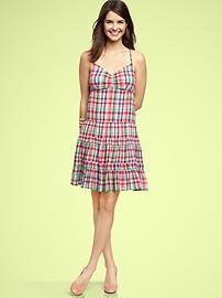 Madras tiered dress. $64.95