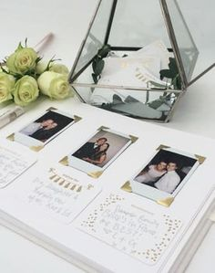 Personalised Cloth Bound Wedding Guest Book