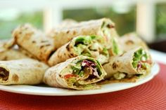Whole Wheat Hummus and Veggie Wrap. Whole wheat tortillas, hummus and veggies help make this recipe a super healthy lunch choice. For more creative ideas for kids lunches visit https://www.facebook.com/SchoolLunchIdeas you may find something you 'LIKE'