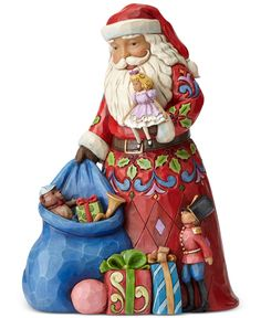 Jim Shore Santa with Toy Bag Collectible Figurine - Holiday Lane - Macy's