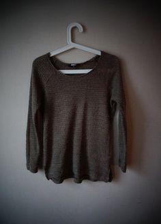 sweterek bikbok brązowo szary