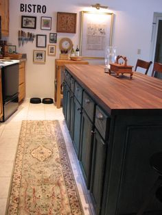 diy kitchen island, made from stock cabinets!