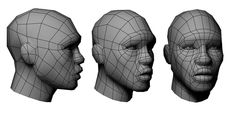 Low poly character wireframe by hugolacasse