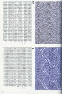 "Photo from album ""Узоры спицами on Yandex. Knitted Dishcloth Patterns Free, Knit Dishcloth, Knit Patterns, Stitch Patterns, Knitting Books, Knitting Charts, Lace Knitting, Knitting Stitches, Cross Stitch Charts"