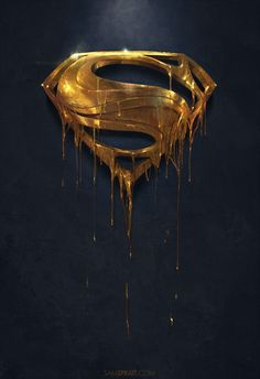 *Golden Logo Superman Man of Steel Hero Marvel, Marvel Dc Comics, Batman Vs Superman, Superman Symbol, Superman Stuff, Comic Books Art, Comic Art, Superman Wallpaper, Marvel Wallpaper