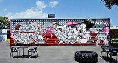 #StreetArt de famosos grafiteiros internacionais feitas em Miami que transformaram o bairro de Wynwood em pura manifestação de arte contemporânea. #graffiti #modernart