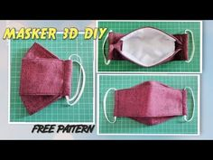 Diy face mask tutorial from jeans - New ideas Sewing Patterns Free, Free Sewing, Sewing Tutorials, Free Pattern, Sewing Diy, Easy Face Masks, Diy Face Mask, Face Diy, 3d Face