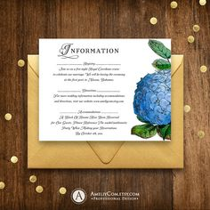 Items similar to Hydrangea Information Cards Garden Wedding Details Cards Template Printable Accommodation Card Floral Wedding Direction Enclosure Cards on Etsy Blue Hydrangea Wedding, Floral Wedding, Plan Your Wedding, Wedding Sets, Wedding Directions, Wedding Entourage, Rustic Garden Wedding, Card Templates Printable