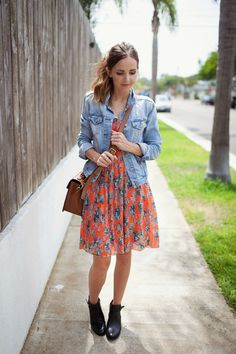 Wallis Orange Multi Floral Fit And Flare Midi Dress - Beautiful Clothes Photo Ankle Boots Outfit Summer, How To Wear Ankle Boots, Ankle Boots Dress, Dress With Boots, Clubbing Outfits, Summer Outfits, Summer Dresses, Clubbing Clothes, Midi Dresses