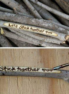 Love Stick Message | Click Pic for 38 DIY Valentine Gifts for Him | DIY Valentine Gifts for Boyfriend