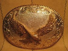 Beautiful EAGLE with WINGS SPREAD Crumine El Aturo Belt Buckle MAKE OFFER $90.00 or Best Offer Free shipping