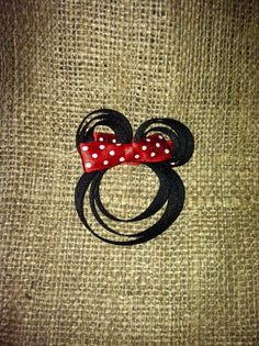 Pinterest inspired Minnie hair bow