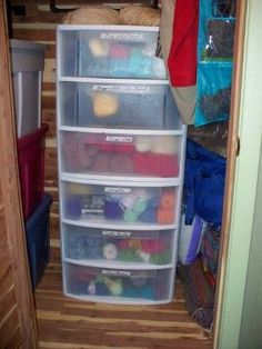 Most current Cost-Free Yarn storage drawers Popular I have three if these.never thought to use them for yarn. Plastic Storage Drawers, Yarn Storage, Craft Room Design, Yarn Stash, Fabric Yarn, Organization, Storage Ideas, Stitches, Organize