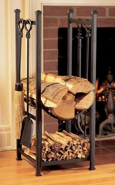 Firewood Rack & Fireplace Tools | Buy from Gardener's Supply