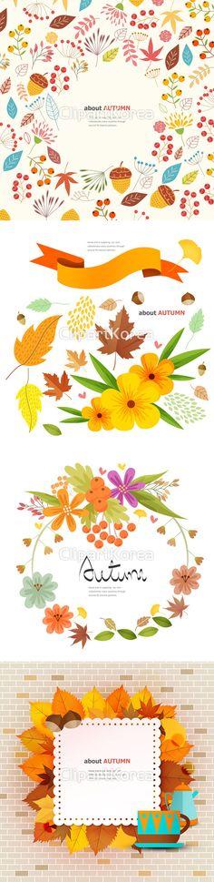 일러스트 가을 나뭇잎 단풍잎 도토리 디자인소스 백그라운드 열매 카피스페이스 프레임 알파벳 영어 illust illustration autumn…