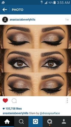 How beautiful is this makeup?! I absolutely love it. ♡