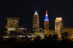 Cleveland Red White And Blue by Dale Kincaid