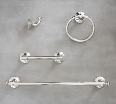 Mercer Fixture Set - Same as light fixture recommended. Polished nickel finish.