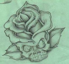 Some of my Skull tattoo designs! Badass Drawings, Cool Art Drawings, Art Drawings Sketches, Rose Drawings, Skull Drawings, Skull Tattoo Design, Tattoo Design Drawings, Tattoo Designs, Rose Drawing Tattoo