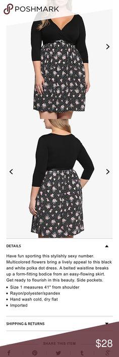 Torrid5 polka dot and floral dress Torrid5 polka dot and floral dress. Missing belt torrid Dresses