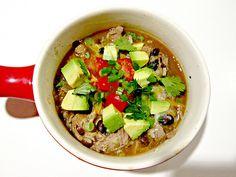 Slow Cooker Pork Carnitas Burrito Bowl Soup