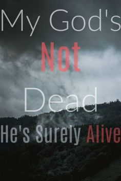 My God's not dead He's surely alive He's living on the inside Roaring like a lion Quote! Newsboys!