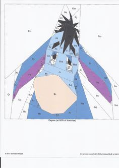 Eeyore paper piecing pattern