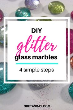 Glitter is one of the things that just makes people happy, Learn how to make glitter glass marble magnets. It's a quick and easy craft project for most ages Easy Craft Projects, Project Ideas, Fun Crafts, Diy And Crafts, Marble Magnets, How To Make Glitter, Quick And Easy Crafts, Glitter Crafts, Amazing Crafts