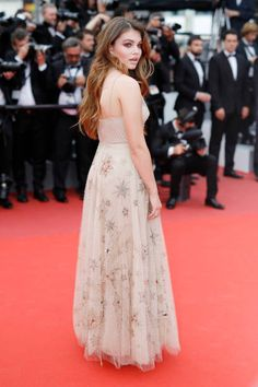 Thylane Blondeau attends the 'Loveless ' screening during the 70th annual Cannes Film Festival at Palais des Festivals on May 18 2017 in Cannes France