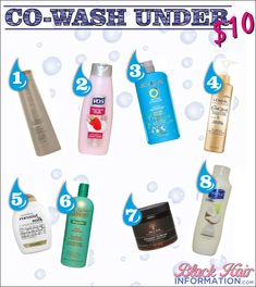 Co-wash Conditioners For Under $10 | BlackHairInformation.com – Growing Black Hair Long And Healthy
